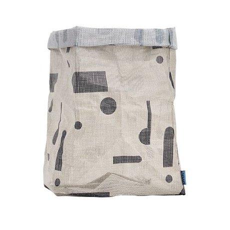 OYOY Kraftzak Hokus Pocus grijs polyester 30x30x54 cm