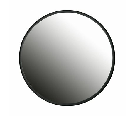 LEF collections Mirror Lauren black metal ø80cm