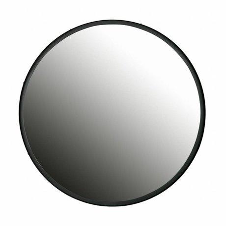 LEF collections Miroir Lauren métal noir ø80cm