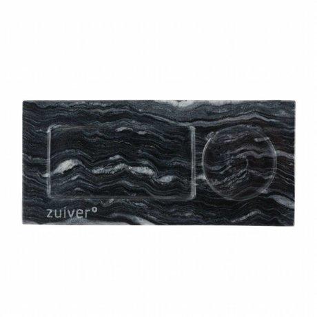 Zuiver Plateau marbre gris, 22x10x1,5cm marbre gris