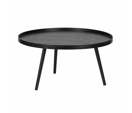 LEF collections Side Table Mesa XL bois noir ø78x39cm