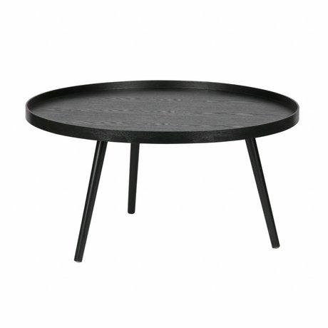 LEF collections Bijzettafel Mesa XL zwart hout ø78x39cm