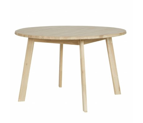 LEF collections Dining table Disc ø120 natural oak wood untreated ø120x74cm