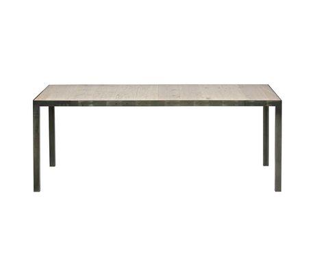 LEF collections Tischstation braun Holz Metall 76,5x198x90cm