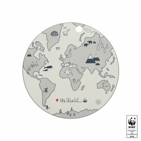 OYOY Placemat The world broken white silicone Ø39cm