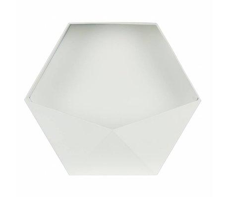 LEF collections Baguette Deco Puck XL 39x45x18,5cm en métal blanc
