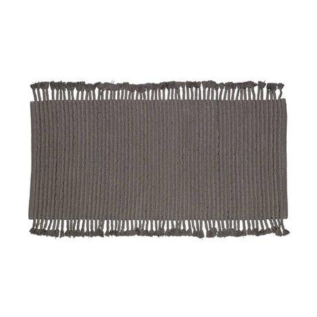 LEF collections Vison Tapis moquette anthracite coton gris 170x240cm