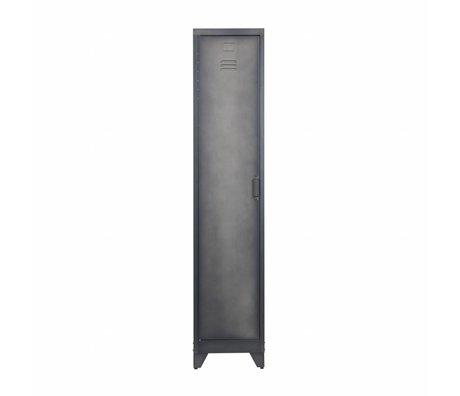 LEF collections Lock case Cas 1 door black metal 180x38x45,5cm