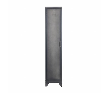 LEF collections Locker Cas 1 Tür schwarzes Metall 180x38x45,5cm