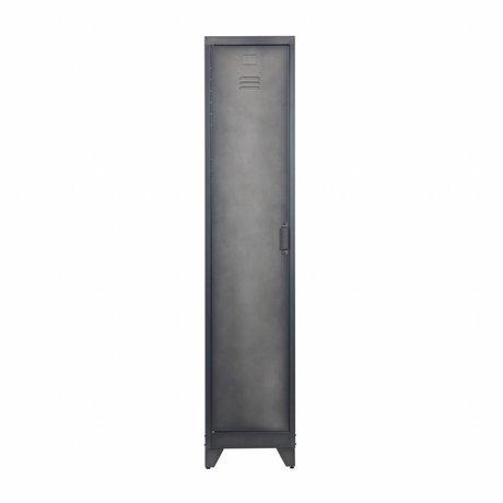 LEF collections Lockerkast Cas 1 deur zwart metaal 38x45.5x180cm