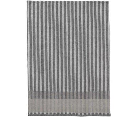 Ferm Living Tea towel Grain Jacquard cotton gray 70x50cm