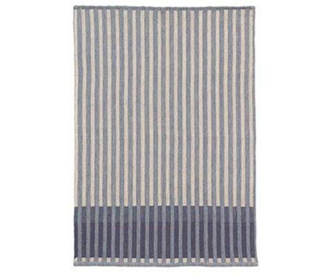 Ferm Living thé grain Jacquard serviette en coton bleu 70x50cm
