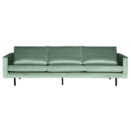 BePureHome 3 seater sofa Rodeo mint green velvet 78x274x87cm