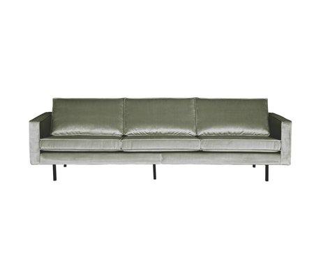 BePureHome Sofa Rodeo 3-seater Khaki green velvet velvet 85x277x86cm