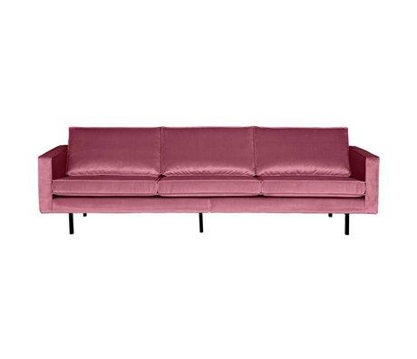 BePureHome Bank Rodeo 3-zits roze fluweel velvet 85x277x86cm