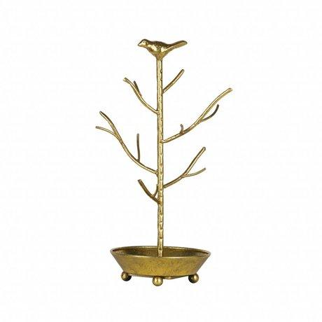 BePureHome Jewelry holder deco antique brass gold metal 40x25x25cm