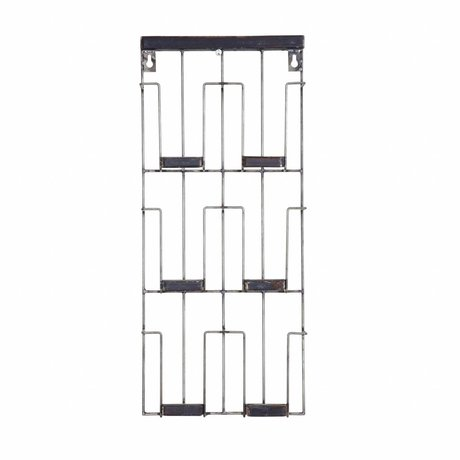 BePureHome Card rack Paper black metal 24x55x4.5cm