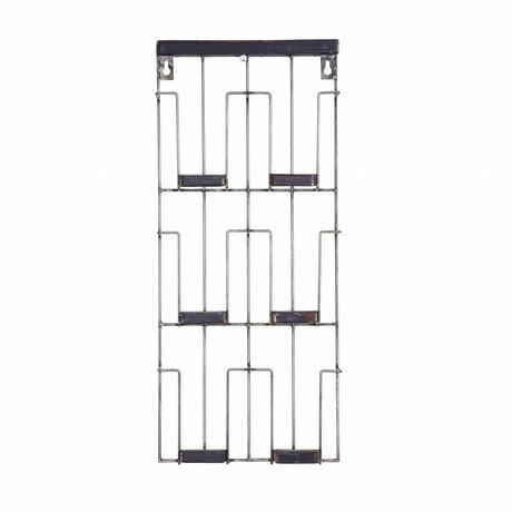 BePureHome Kaartenrek Paper zwart metaal 24x55x4.5cm