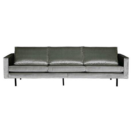 BePureHome Sofa Rodeo 3-seater medium gray velvet velvet 85x277x86cm