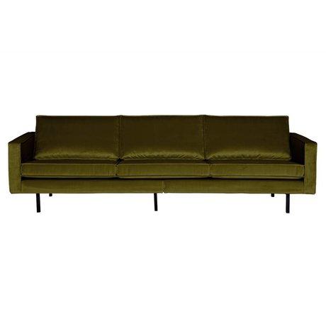 BePureHome Bank Rodeo 3-zits olijf groen fluweel velvet 85x277x86cm