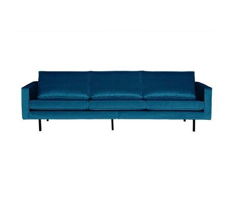 BePureHome Bank Rodeo 3-zits blauw fluweel velvet 85x277x86cm