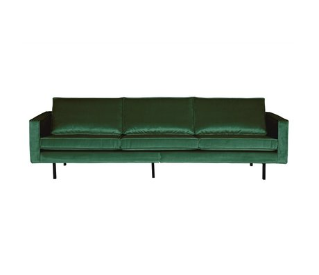 BePureHome Bank Rodeo 3 places velours velours vert Green Forest 85x277x86cm