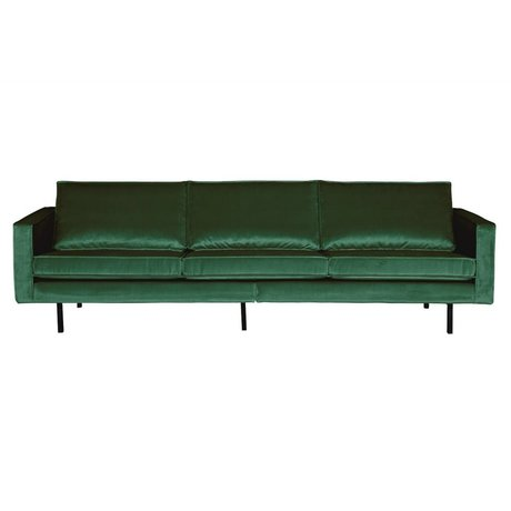 BePureHome Sofa Rodeo 3-seater Green Forest green velvet velvet 85x277x86cm