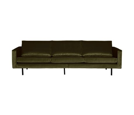 BePureHome Bank Rodeo 3-zits Green Hunter groen fluweel velvet 85x277x86cm