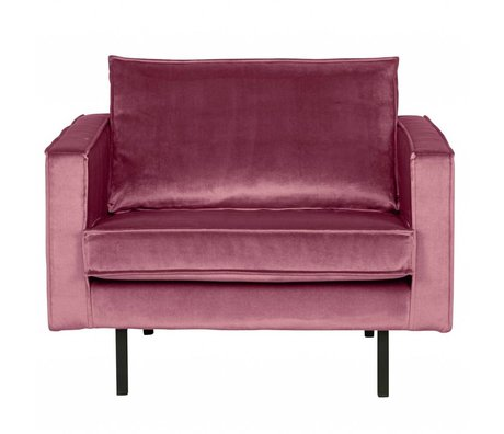 BePureHome Sessel Rodeo rosa Samt Samt 105x86x85cm