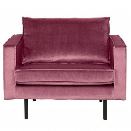 BePureHome Fauteuil Rodeo roze fluweel velvet 105x86x85cm