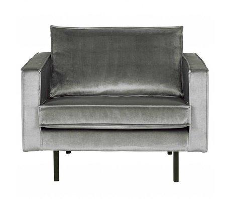 BePureHome Fauteuil Rodeo middle gray velvet velvet 105x86x85cm