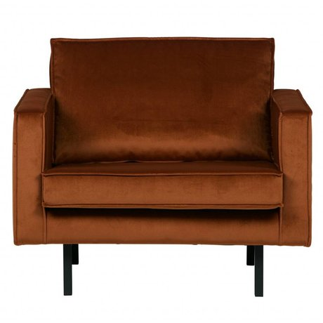 BePureHome Armchair Rodeo rust orange velvet velvet 105x86x85cm