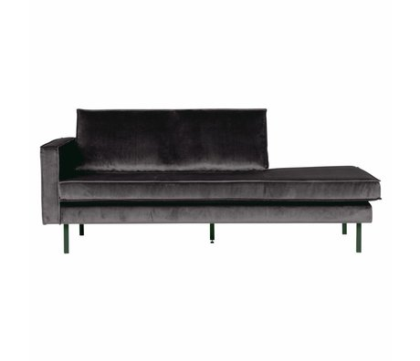 BePureHome Banque Daybed gauche velours velours gris anthracite 203x86x85cm