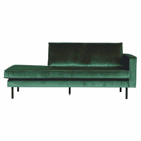 BePureHome Bank Daybed right Green Forest green velvet velvet 203x86x85cm