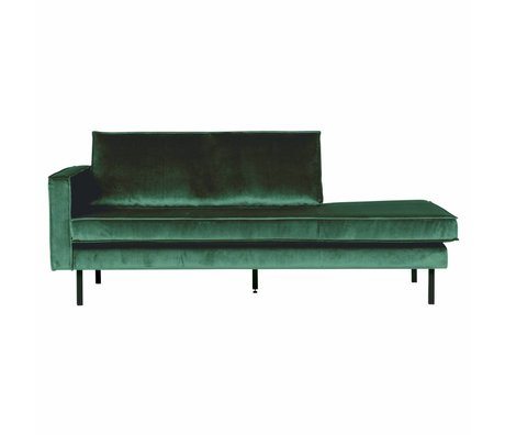 BePureHome Bank Daybed links Green Forest grüner Samt Samt 203x86x85cm
