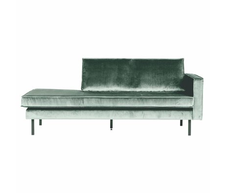 BePureHome Sofa Daybed Rodeo rechts mintgrün Samt Samt 203x86x85cm