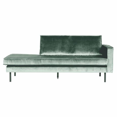 BePureHome Canapé Daybed Rodeo droit velours vert menthe velours 203x86x85cm