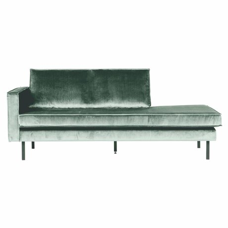 BePureHome Bank Daybed Rodeo links mintgrüner Samt Samt 203x86x85cm
