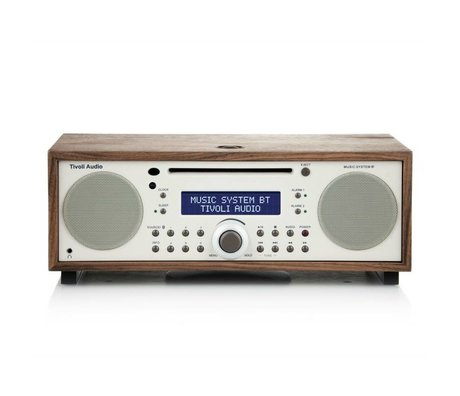 Tivoli Audio Radio Music System BT white brown wood 35,88x24,13x13,34cm