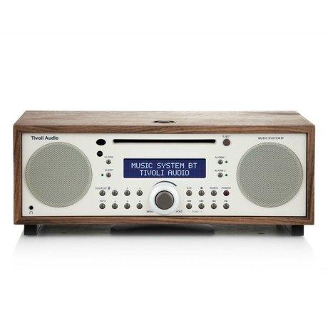 Tivoli Audio Radio Music System BT weiß braun Holz 35,88x24,13x13,34cm