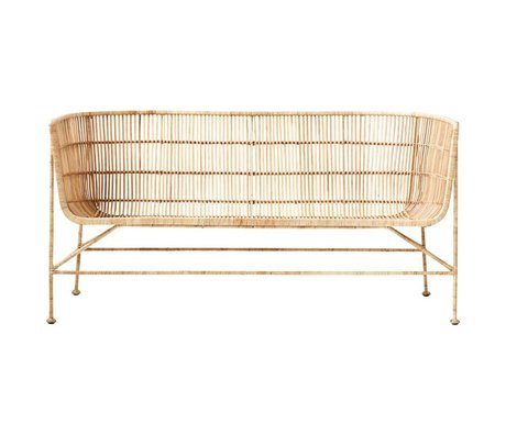 Housedoctor Coon sofa natural brown rattan 65.5x140x70cm
