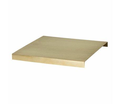 Ferm Living Tray voor Plant Box goud metaal 26x26x2.5cm