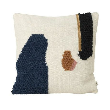 Ferm Living Cushion Loop Mount Multicolour Wool Canvas 50x50cm