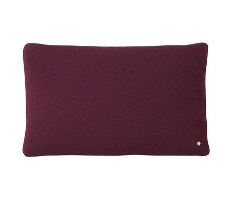 Ferm Living Quilt coussin de laine violet 80x50cm