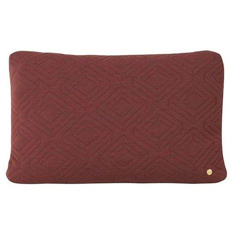 Ferm Living Sierkussen Quilt Rust bordeaux rood wol 60x40cm