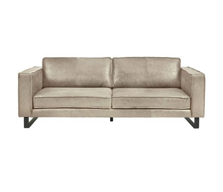 I-Sofa Bank 4 places Harley cuir brun taupe 260x96x82cm