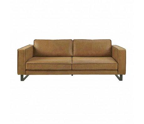 I-Sofa Sofa 3.5-Sitzer Harley cognacbraun Leder 234x96x82cm