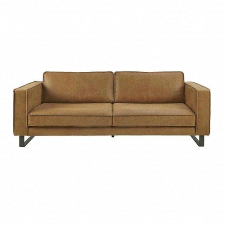 I-Sofa Sofa 3.5 seater Harley cognac brown leather 234x96x82cm