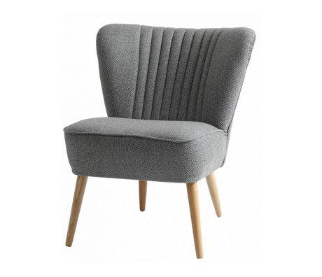 I-Sofa Sessel Lola grau textile 60x51x71cm