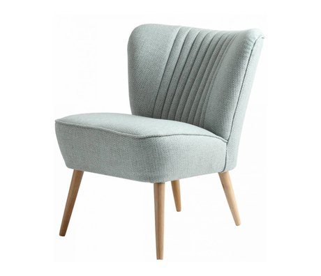 I-Sofa Sessel Lola hellblau textile 60x51x71cm
